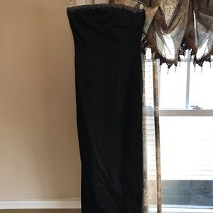 Express Black Beaded Gown